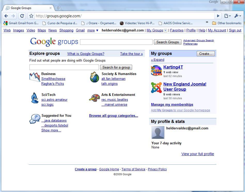 """Grupos de Discussão """"Newsgroups"""""""